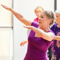 Senior woman exercising