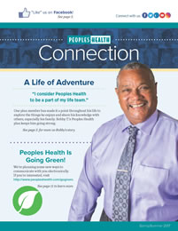 Front cover of the Connection Newsletter