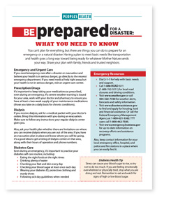 Screenshot of the cover of the Be Prepared for a Disaster: What You Need to Know PDF