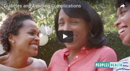 Screenshot of three women smiling on the Chronic Conditions Video