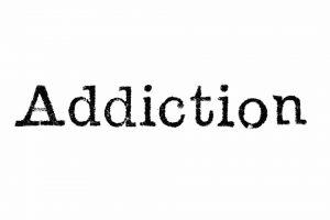 Addiction word icon