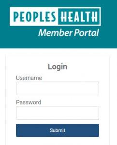 Peoples Health Member Portal login