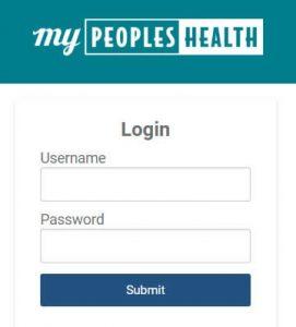Image of MyPeoplesHealth portal login