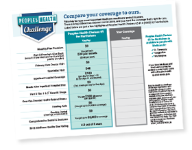 Peoples Health Challenge Worksheet for Choices #65 for Northshore