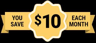 $10 give back banner