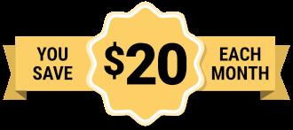 $20 give back banner