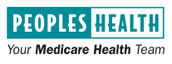 Peoples Health logo, teal and white