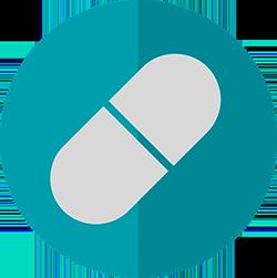 two tone pill icon