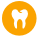 Gold icon of a tooth for Peoples Health Dental Benefit