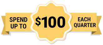 $100 over the counter banner