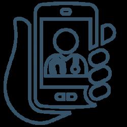 virtual visits icon