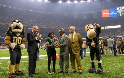 Peoples Health Honors Champion Dianna Riley Beasley at Saints Home Game