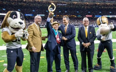 Peoples Health Honors Champion Deacon John Moore at Saints Home Game