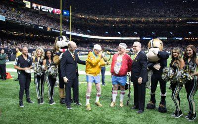 Peoples Health Honors Champion Jim Heneghan at Saints Home Game