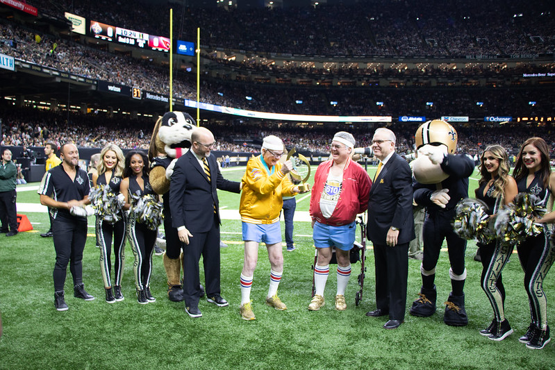 Peoples Health Honors Champion Jim Heneghan at Saints Home Game