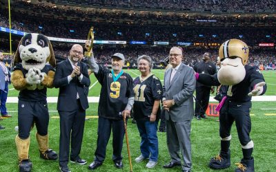 Peoples Health Honors Champion Dr. Juan Gershanik at Saints Home Game