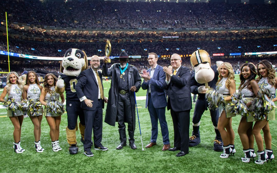 Peoples Health Honors Champion Robert Finley at Saints Home Game