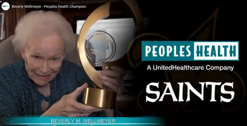 Peoples Health Honors Champion Beverly Wellmeyer at Saints Home Game