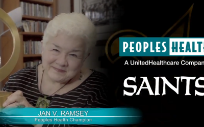Peoples Health Honors Champion Jan Ramsey at Saints Home Game