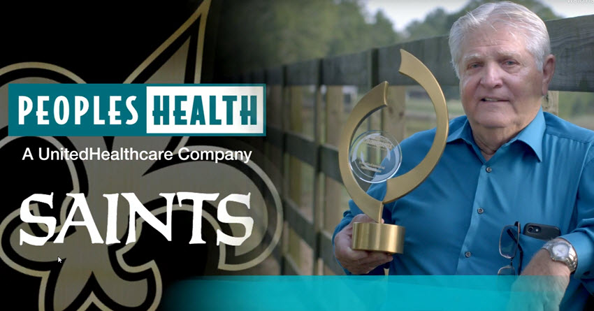 Peoples Health Honors Champion Bill Mayfield at Saints Home Game