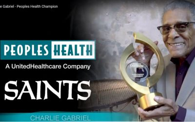 Peoples Health Honors Champion Charlie Gabriel at Saints Home Game