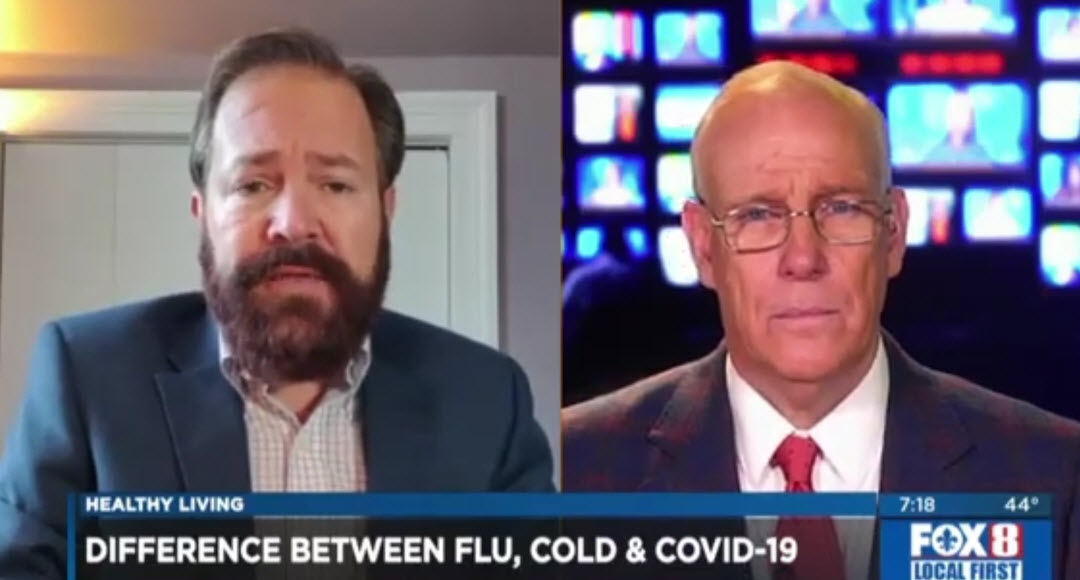 Cold, Flu and COVID-19 – Dr. Brent Wallis on WVUE FOX 8 News