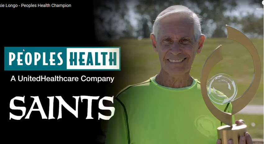 Peoples Health Honors Champion Dickie Longo at Saints Home Game