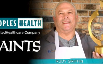 Peoples Health Honors Champion Rudy Griffin at Saints Home Game