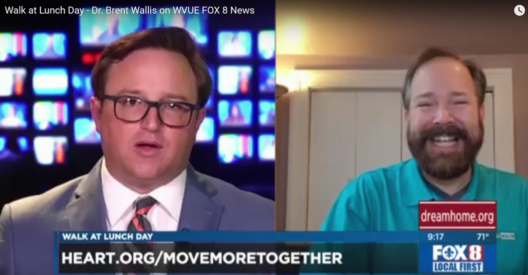 Walk at Lunch Day – Dr. Brent Wallis on WVUE FOX 8 News