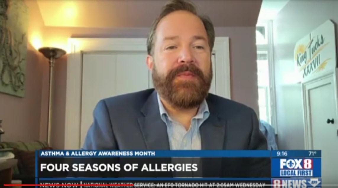 Four Seasons of Allergies – Dr. Brent Wallis on WVUE Fox 8 News