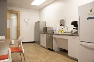 Interior photo of the Peoples Health Medicare Center kitchen area