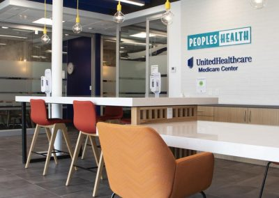 Interior photo of the Peoples Health Medicare Center meeting room area